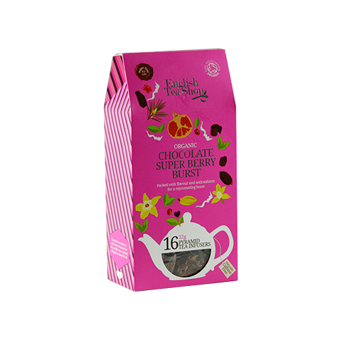 Image of   English Tea Shop Chocolate Super Berry Burst te Ø - 16 Brev