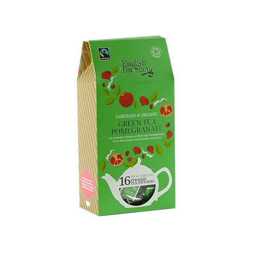 Image of   English Tea Shop Green Tea Pomegranate Ø - 16 Brev