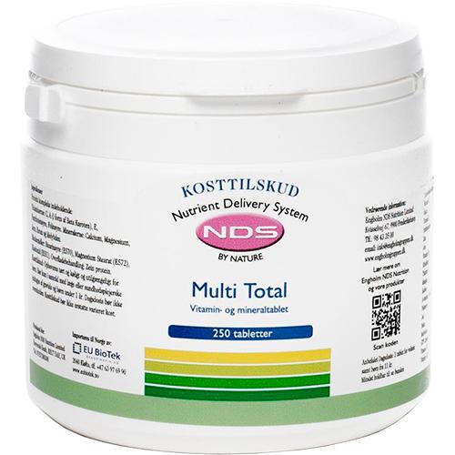 NDS Multi Total - multivitamin- og mineral - 250 Tabl