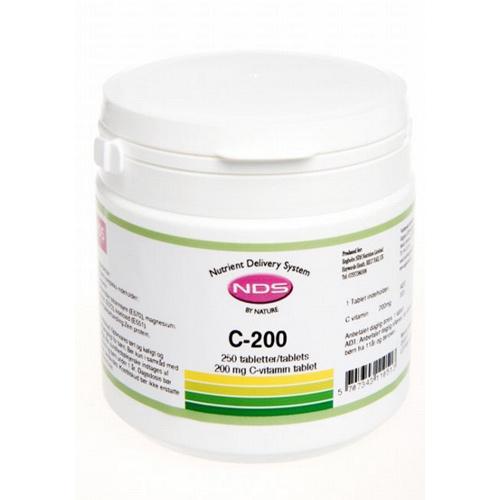 Billede af NDS C-200 Vitamin - 250 Tabl