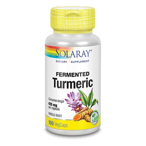 Image of   Solaray Turmeric Fermenteret - 425 mg - 100 Kaps