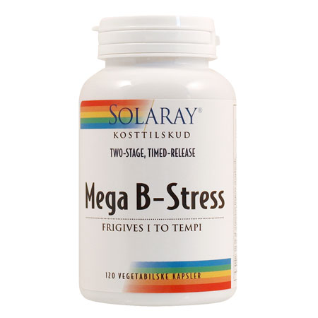 Image of   Solaray Mega B-Stress - 120 Kaps