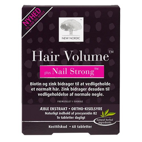 Billede af New Nordic Hair Volume + Nails strong - 60 Tabl