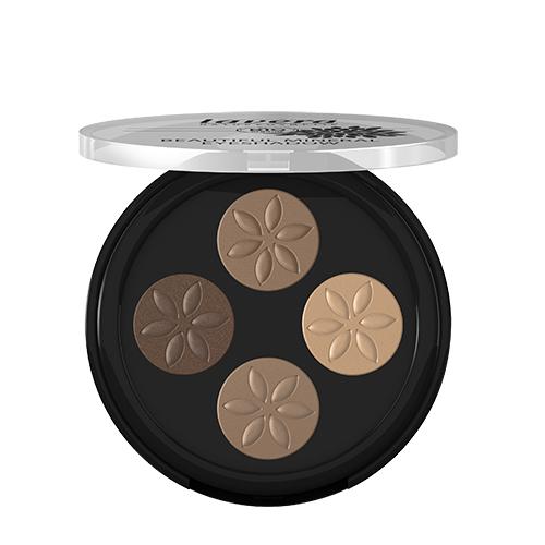 Billede af Lavera Beautiful Mineral Quattro Eyeshadow Cappuccino Cream 02 Trend - 3 G