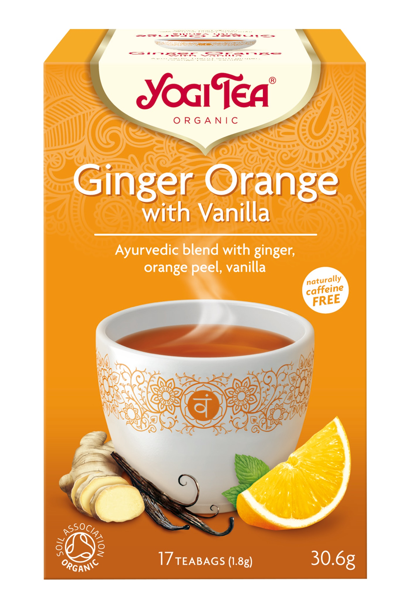 Yogi Tea Ginger Orange m. Vanilje Te - 17 Brev