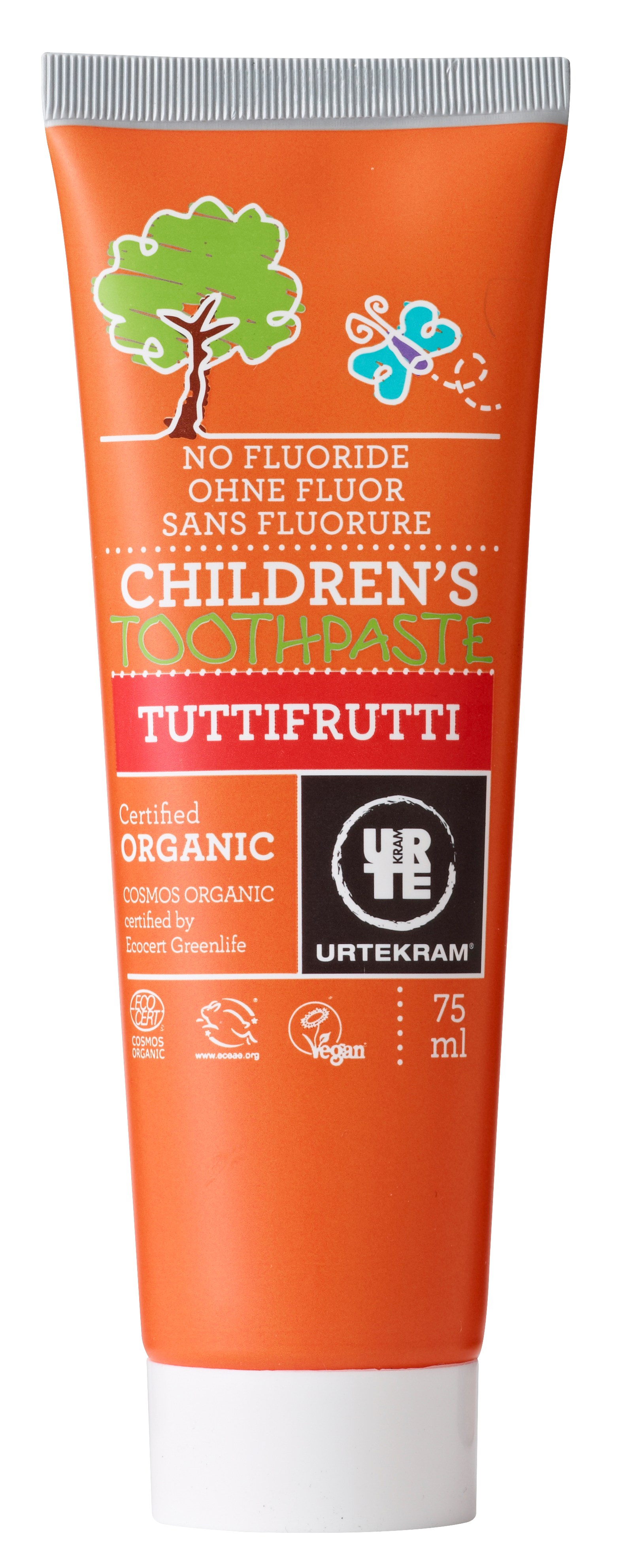Urtekram Tandpasta TuttiFrutti - 75 ml