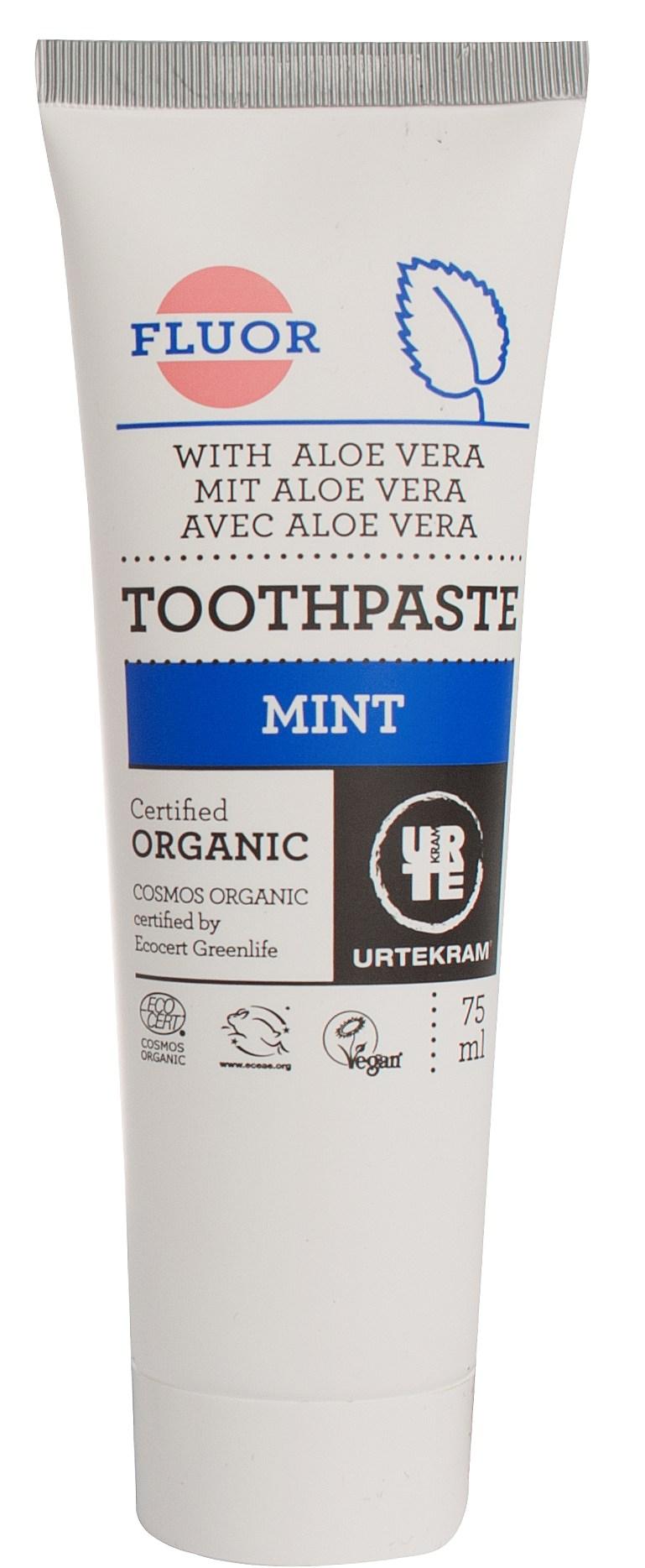 Image of   Urtekram Tandpasta Mint Med Fluor - 75 ml