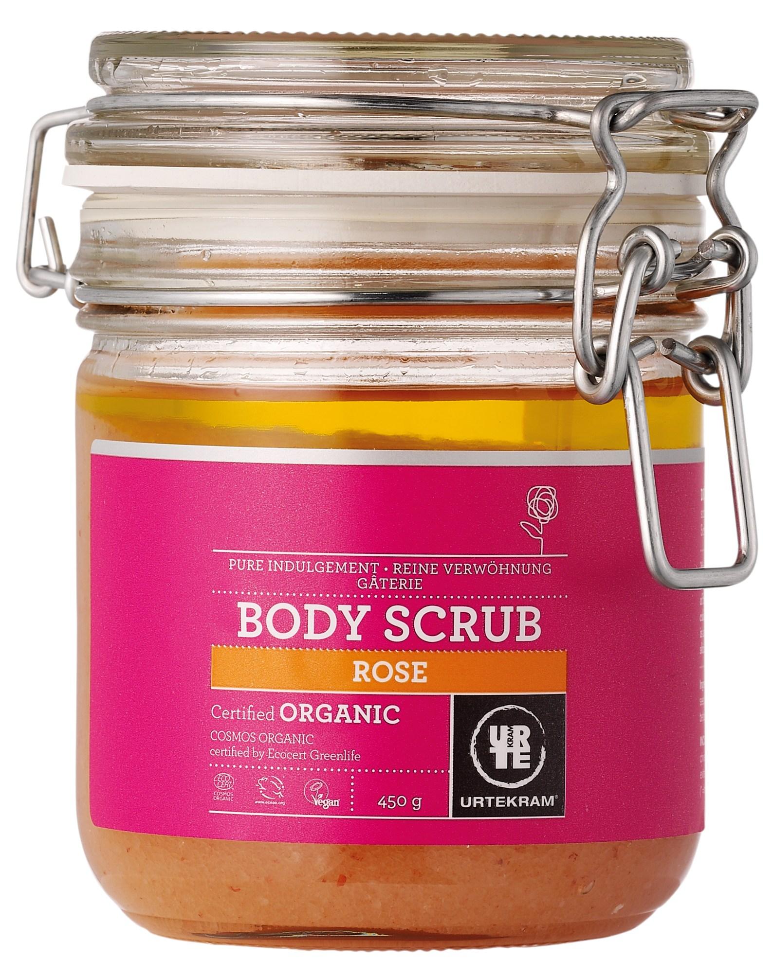 Urtekram Rose Himalaya Salt Body Scrub - 450 Gram