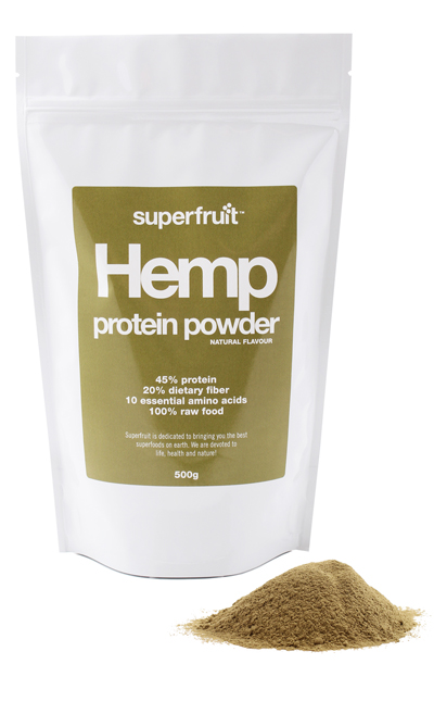 Superfruit hamp proteinpulver fra Mecindo