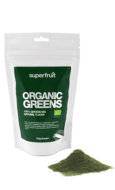Image of   Superfruit Organic Greens Pulvermix Ø - 100 Gram