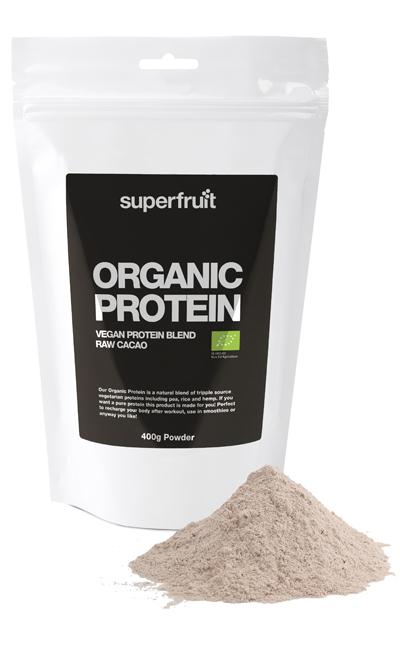 Image of   Superfruit Protein Pulvermix Cacao Ø Organic - 400 Gram
